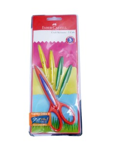 Faber Castell Craft Scissors -3 Cuts by StatMo.in