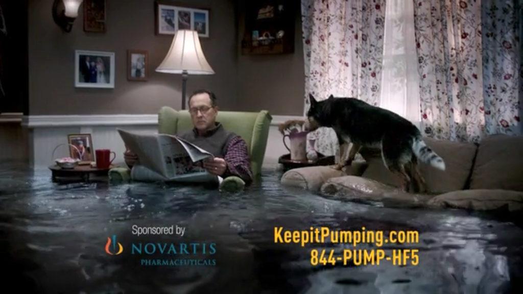 All wet Novartis is slammed for alarmist ad for heart
