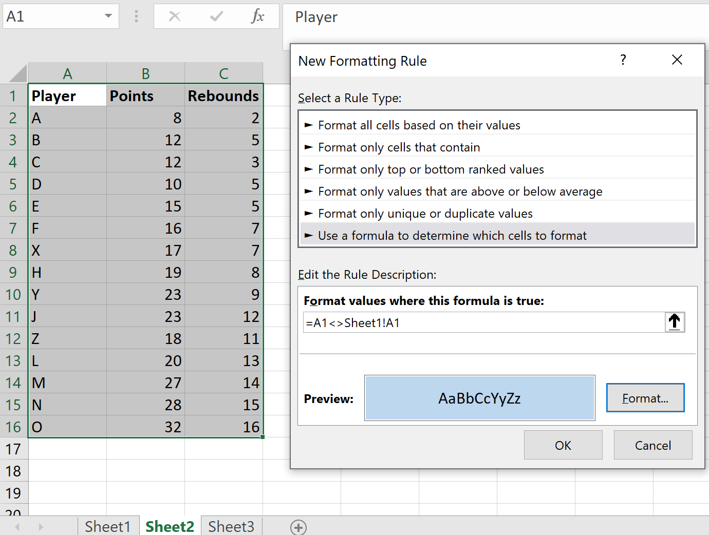 How To Compare Two Excel Sheets For Differences