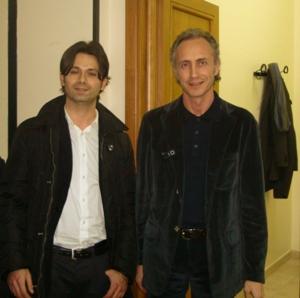 A.Del Vecchio con il giornalista Marco Travaglio