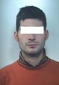 Foto dell'arrestato