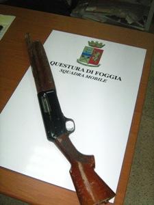 Fucilesequestrato da Mobile-arma non del delitto ma degli spari di Capodanno