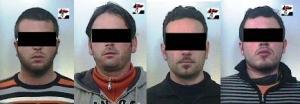 Foto degli arrestati Terlizzi