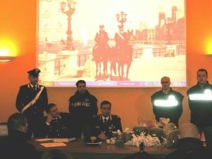 La conferenza stampa di stamane, arresti droga a Canosa di Puglia