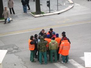 Protesta lavoratori cooperativa Fiore