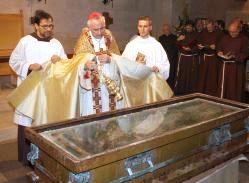 San Giovanni Rotondo, Monsignore Castoro questo pomeriggio (Chiesa S.M.Grazie)
