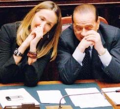 Il ministro Stefania Prestigiacomo e il premier Silvio Berlusconi