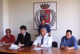 Un momento della Conferenza stampa di stamane (fonte image: Romagnaoggi.it)