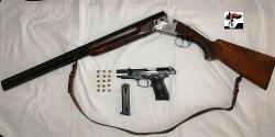 Pistola e fucile sequestrati al pensionato di Martina Franca