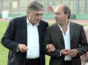 Per risanare la situazione societaria del Foggia si confida ancora in un ritorno dell'ex patron Pasquale Casillo (nella foto con Dellamonica, ilportico)