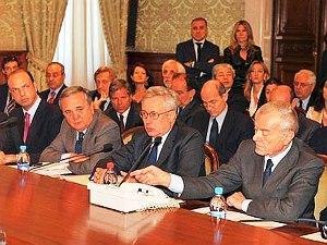 Consiglio dei ministri, Tremonti-Letta (isaac.guidasicilia.it)