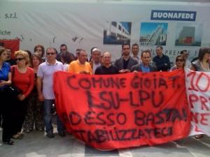 Protesta lavoratori Lsu-Lpu (immagine d'archivio)