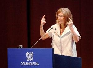 Emma Marcegaglia (image: ilpuntoamezzogiorno.it)