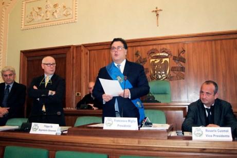Prima seduta di consiglio provinciale a Foggia (V.MAIZZI)