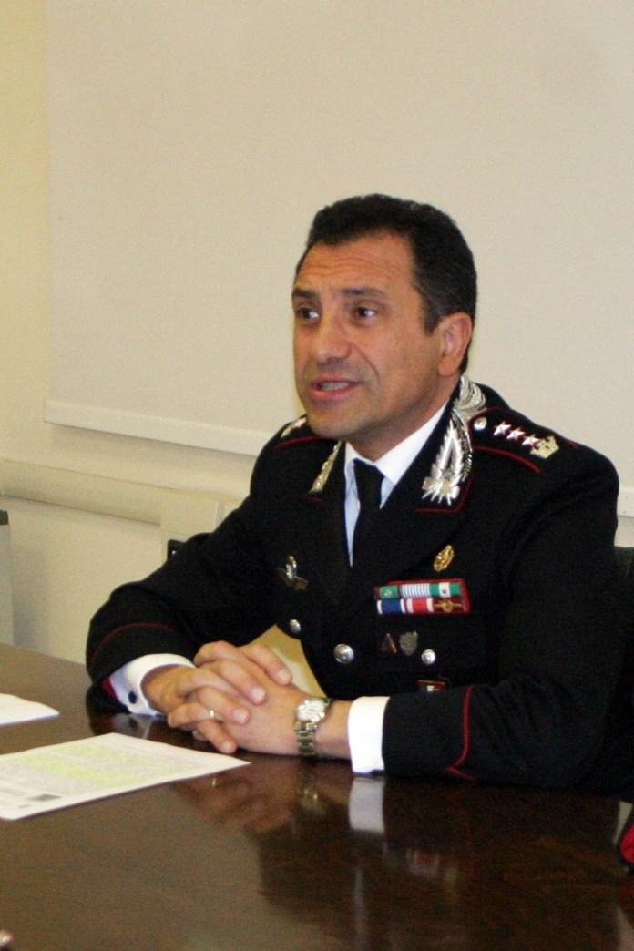 Il colonnello A.Basilicata, Comando provinciale carabinieri di Foggia (maizzi)