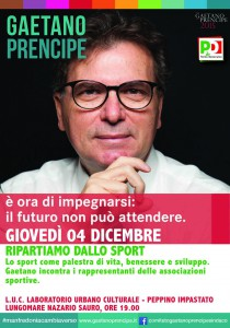 Locandina Gaetano Prencipe, cantiere sport
