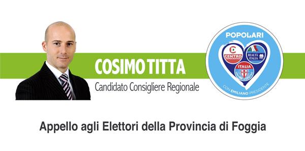 Cosimo Titta alla Regione - Manfredonia