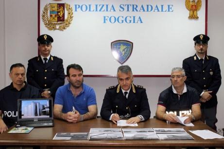 Un momento di una passata conferenza stampa presso la sede della Polizia Stradale di Foggia (20.05.2015)