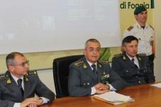 Militari della Guardia di Finanza, durante la conferenza di stamani a Foggia (ph: MAIZZI)