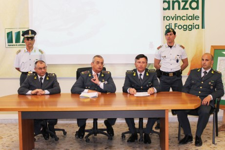 Operazione Ghost Manfredonia, la conferenza stampa nel Comando provinciale della Guardia di Finanza di Foggia (SQ - MAIZZI)