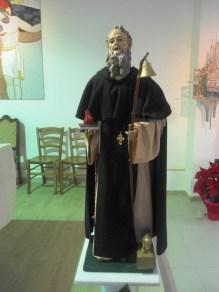 Statuina di S.Antonio Abate nella Chiesa di S.Pio da Pietrelcina dove sarà celebrata questa sera la Messa in onore del Santo