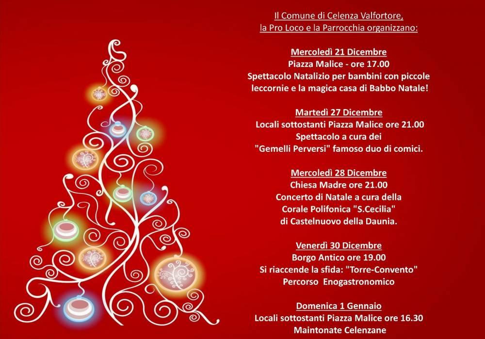 Poesie Di Natale In Rima Baciata.Celenza Natale Nell Incanto Del Borgo Tra Storia E Magia Stato Quotidiano