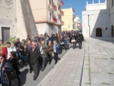 20 marzo 2016-Processione delle Palme per via S.Francesco -Chiesa del Carmine