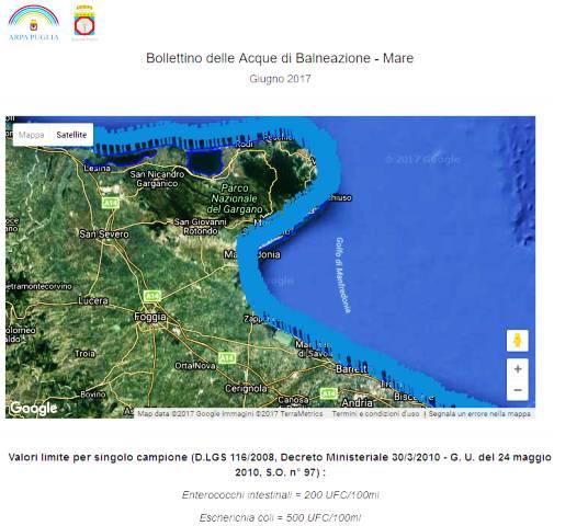 Acque balneazione Manfredonia, GIUGNO: conferma valori nella norma