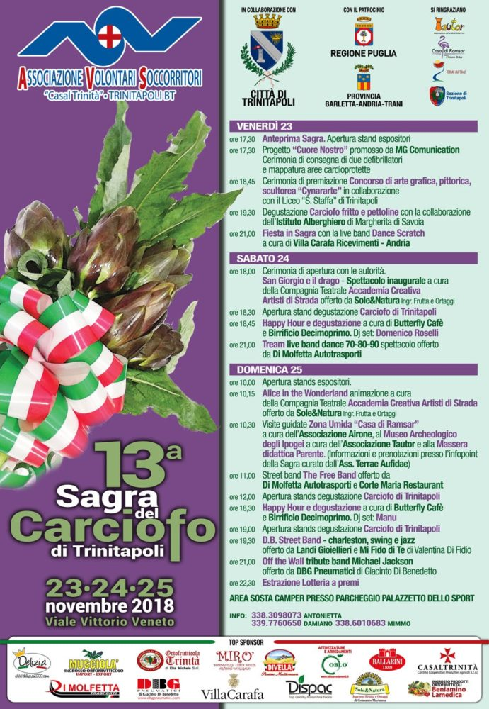 13^ SAGRA DEL CARCIOFO A TRINITAPOLI