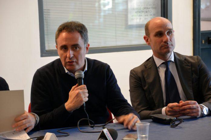Un momento della conferenza stampa (st)