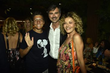 Beppe Convertini con Eva Grimaldi e Imma Battaglia