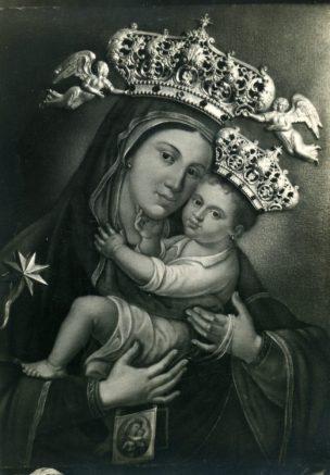 COPERTINA- Antica immaginetta -Santa Maria del Carmine-Manfredonia- Foto Valente-Archivio Franco Rinaldi