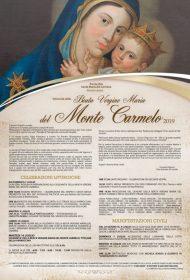 Programma - 2019- Festa in onore della Beata Vergina Maria del Monte Carmelo