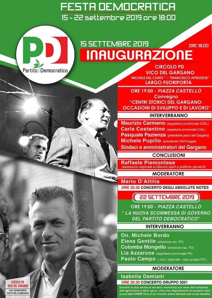 """Vico del Gargano, """"Festa dell'Unità""""   Stato Quotidiano - StatoQuotidiano.it"""