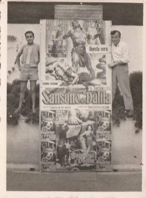 Nella foto nel cinema Impero- Lorenzo di Staso e Paolino Giovanni