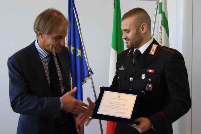 A destra il carabinieri F.Citarella (SQ)