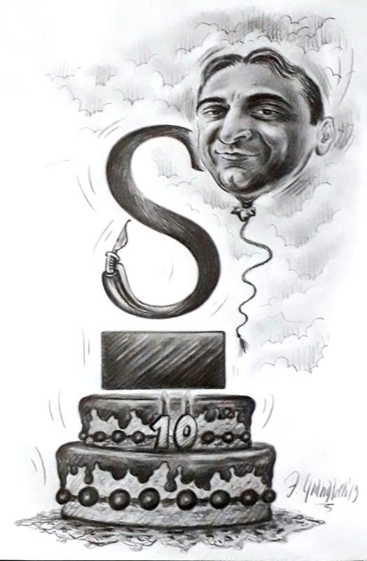 vignetta DECENNALE di Statoquotidiano_eff bianco e nero 2019_Francesco Granatiero
