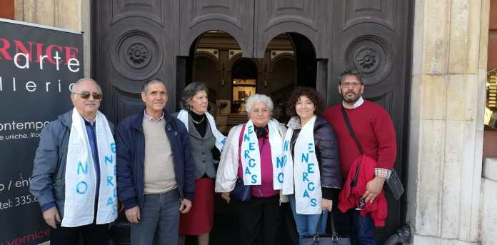 TAR BARI, udienze Energas - Presenti referenti Caons, Manfredonia nuova e Manfredonia in Movimento (ph LS)