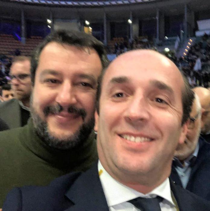 L'AVVOCATO MARCO TROMBETTA CON IL LEADER DELLA LEGA, MATTEO SALVINI (fonte image: ilveltro)