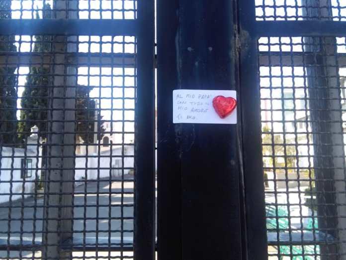 """""""L'emergenza coronavirus ha determinato anche a Manfredonia la chiusura al pubblico del cimitero"""" (immagine inviata a StatoQuotidiano)"""