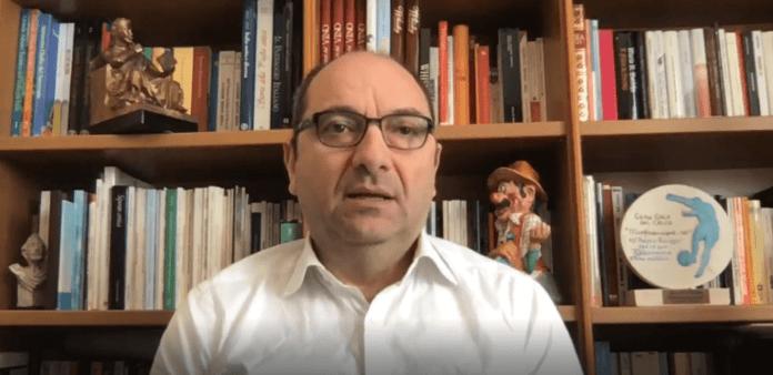 ANGELO RICCARDI, già sindaco di Manfredonia (frame video 05.04.2020)