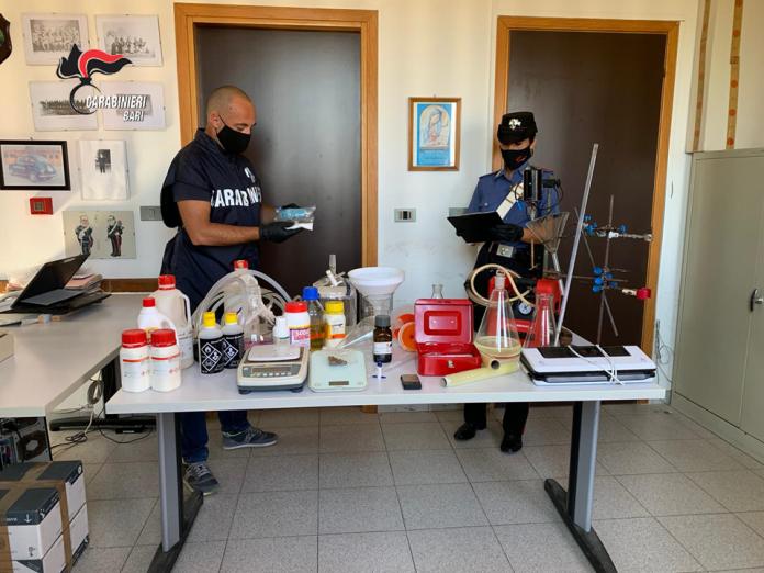 Conversano. 2 arresti laboratorio anfetamine (1)