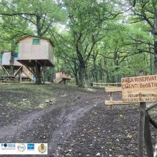 Biccari press tour casette sugli alberi parco