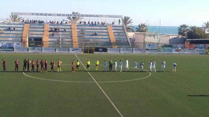 Primo stop per il Manfredonia calcio: 0-2 in casa