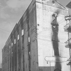 15 dicembre 1950-Incendio del granaio del mulino-pastificio in via Principe Umberto, poi Antiche Mura