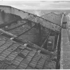 15 dicembre 1950- Tetto del munino-pastificio dopo l'incendio