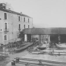 1925- Mulino-Pastificio D'Onofrio & Longo- cortile interno-