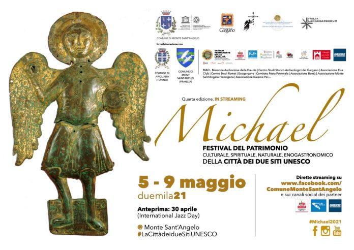 Dal 5 al 9 maggio torna in streaming il festival Michael che celebra l'Arcangelo e i due Siti UNESCO di Monte Sant'Angelo