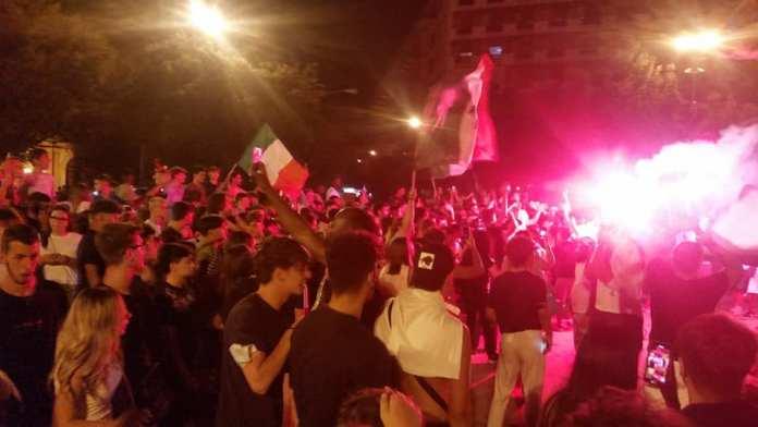 FOGGIA, LA FESTA PER LA VITTORIA DELL'ITALIA DI MANCINI (PH ENZO MAIZZI)