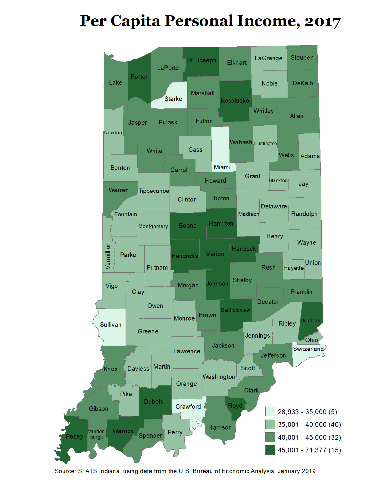 Thematic Maps Stats Indiana